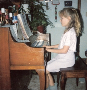 A piano recital when I was 10 years old